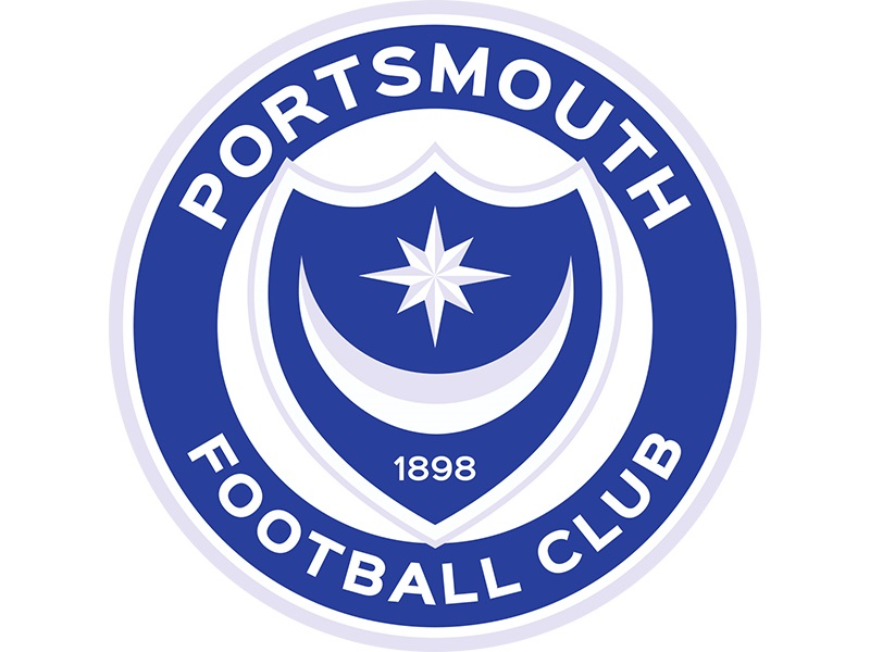 The blue and white crest of Portsmouth Football club